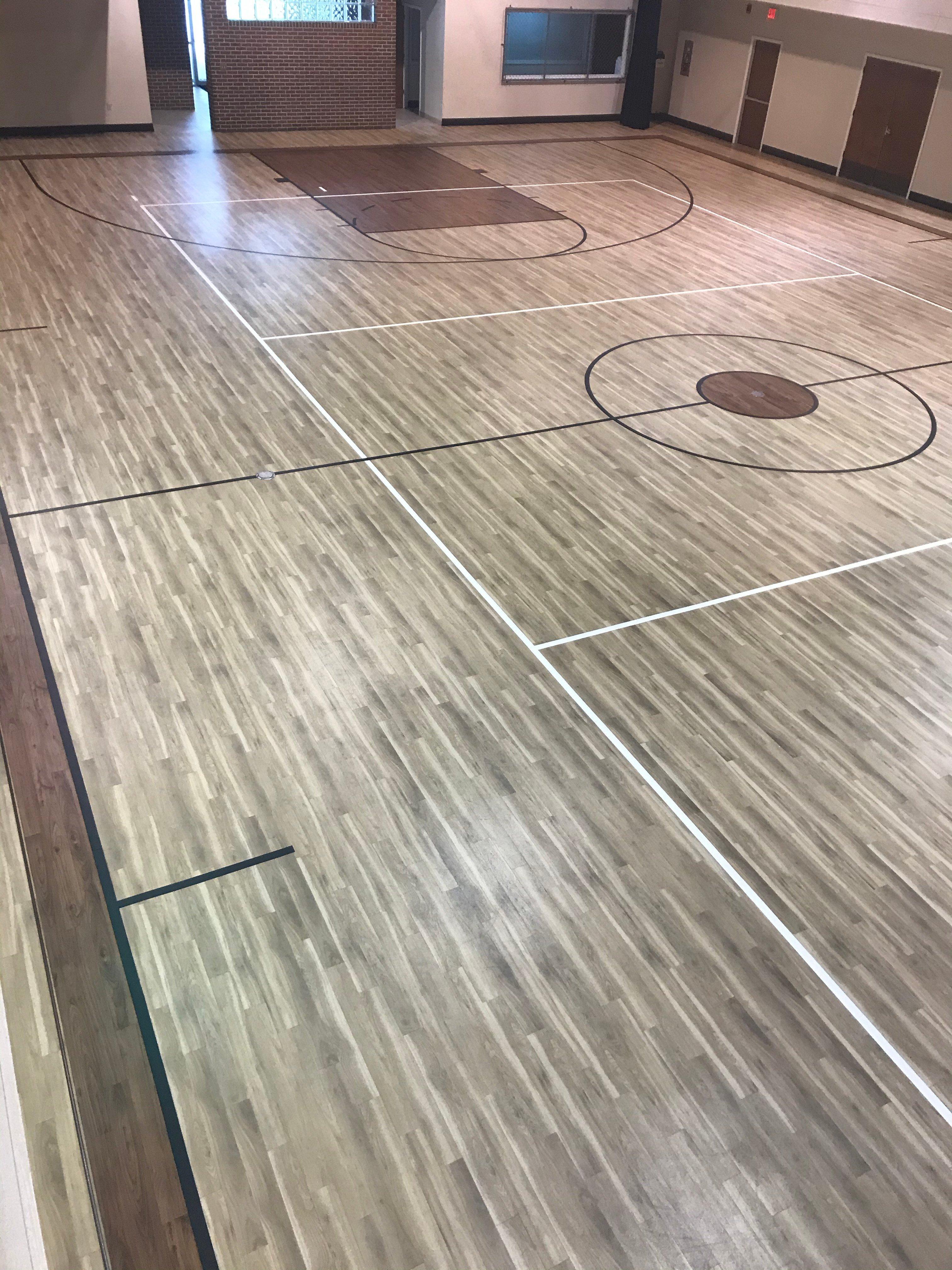 Basketball Court LVT Flooring Custom Amtico Court Flooring