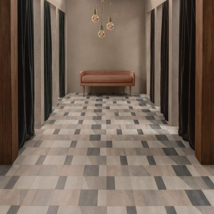 AmticoSignatureStone_TempusHarmony_AR0STE41_TempusPause_AR0STE37_TempusSoothe_AR0Retail Room Scene Image Commercial LVT Flooring STE31_TempusEmbrace_AR0STE30_RS_Retail