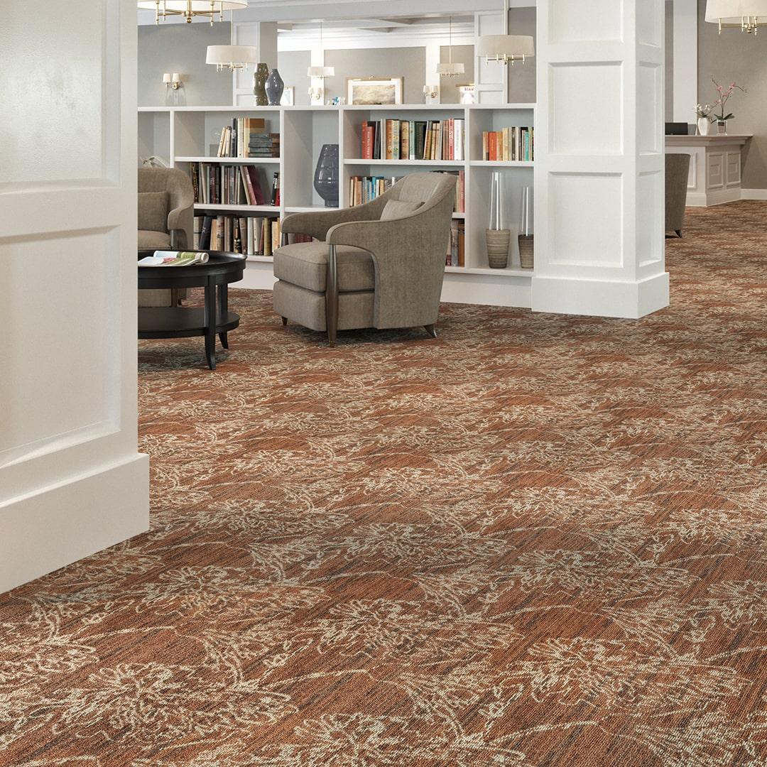 BLOG Poetica Mannington Commercial Carpet Tiles Broadloom Commercial Flooring Senior Living Retirement Home Colorful