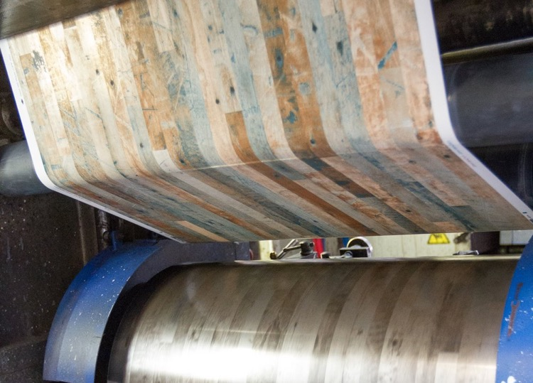 sheet vinyl flooring printing process