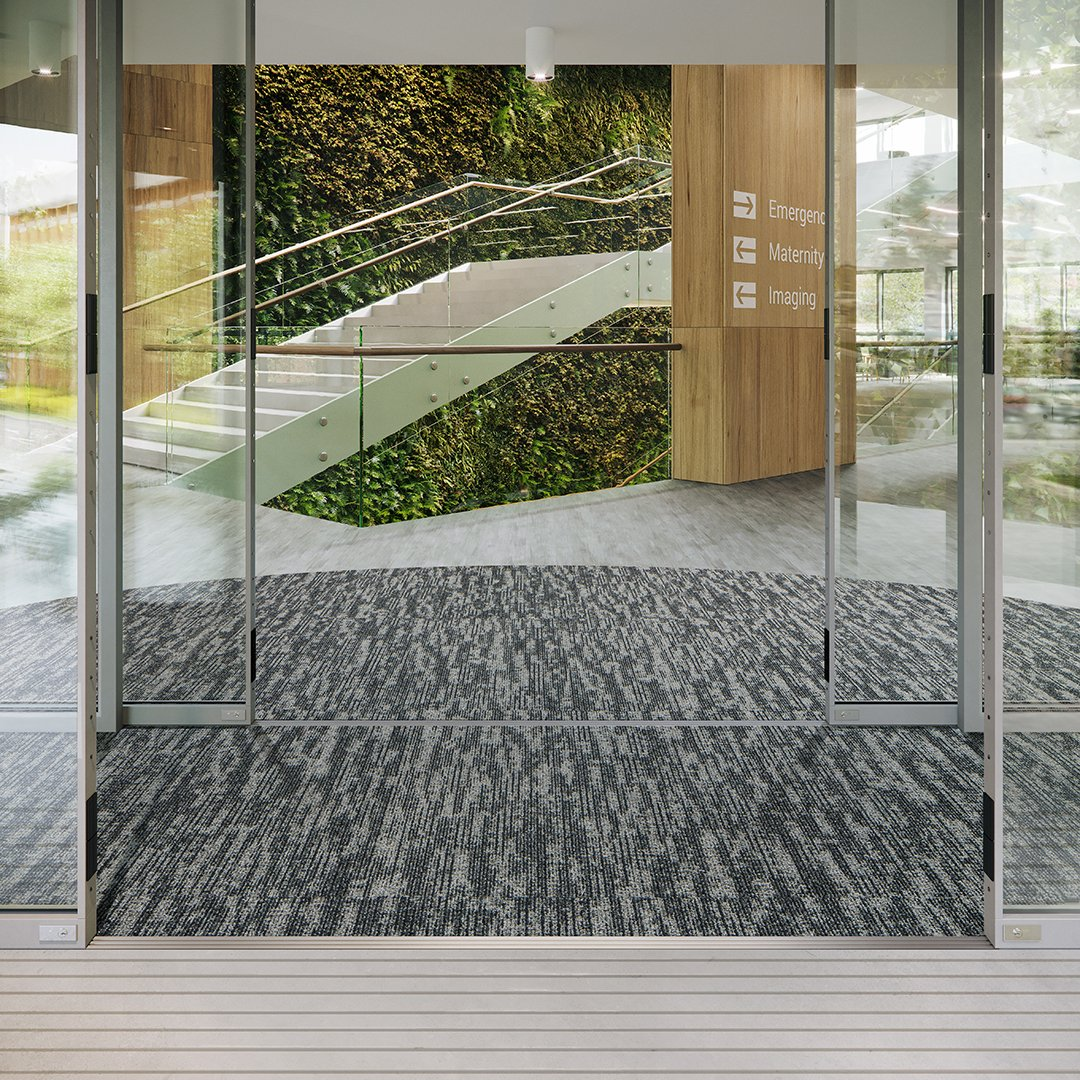 Frixtion Healthcare image from mannington commercial entryway carpet systems helping to maintain the look of the whole floor and facility in winter weather