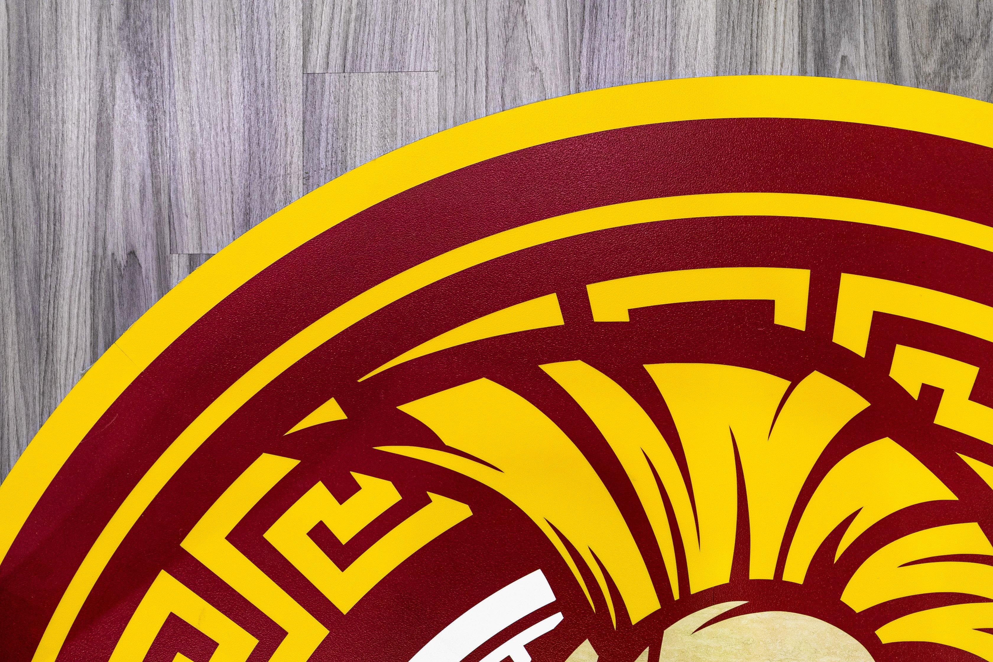 HenryT.Gage LVT Basketball Court Flooring Custom Amtico Logo