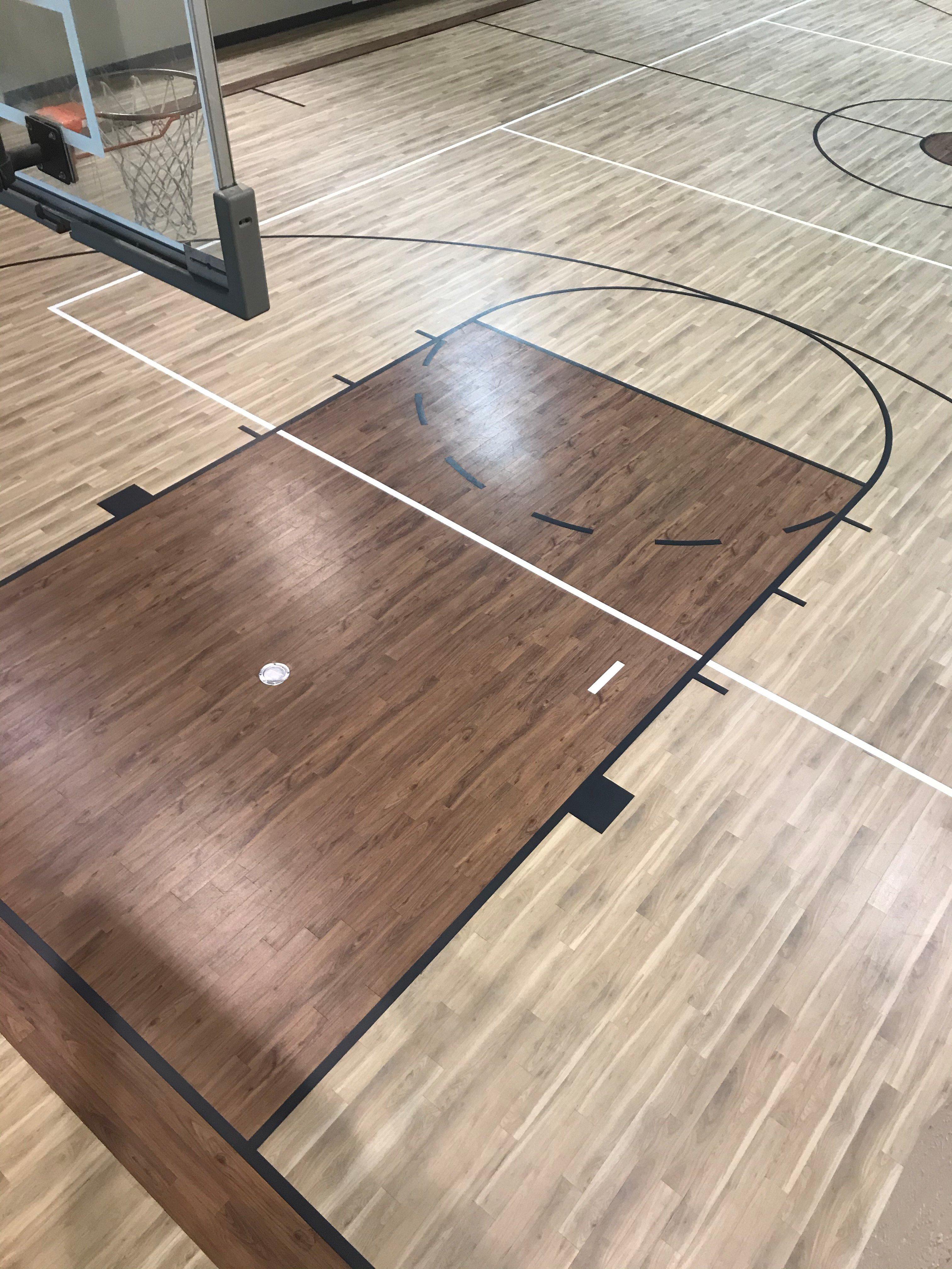 Basketball Gym Flooring Custom Court Amtico LVT