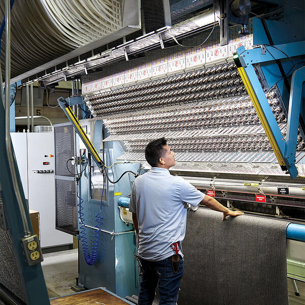 Mannington commercial carpet tufting machines