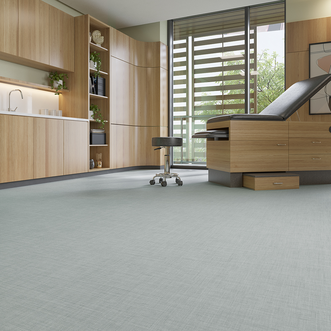 Blue Grey Flooring Healthcare Design Floor Patient room Bloom Collection Mannington Commercial Patient Room Wellspring_Tranquility