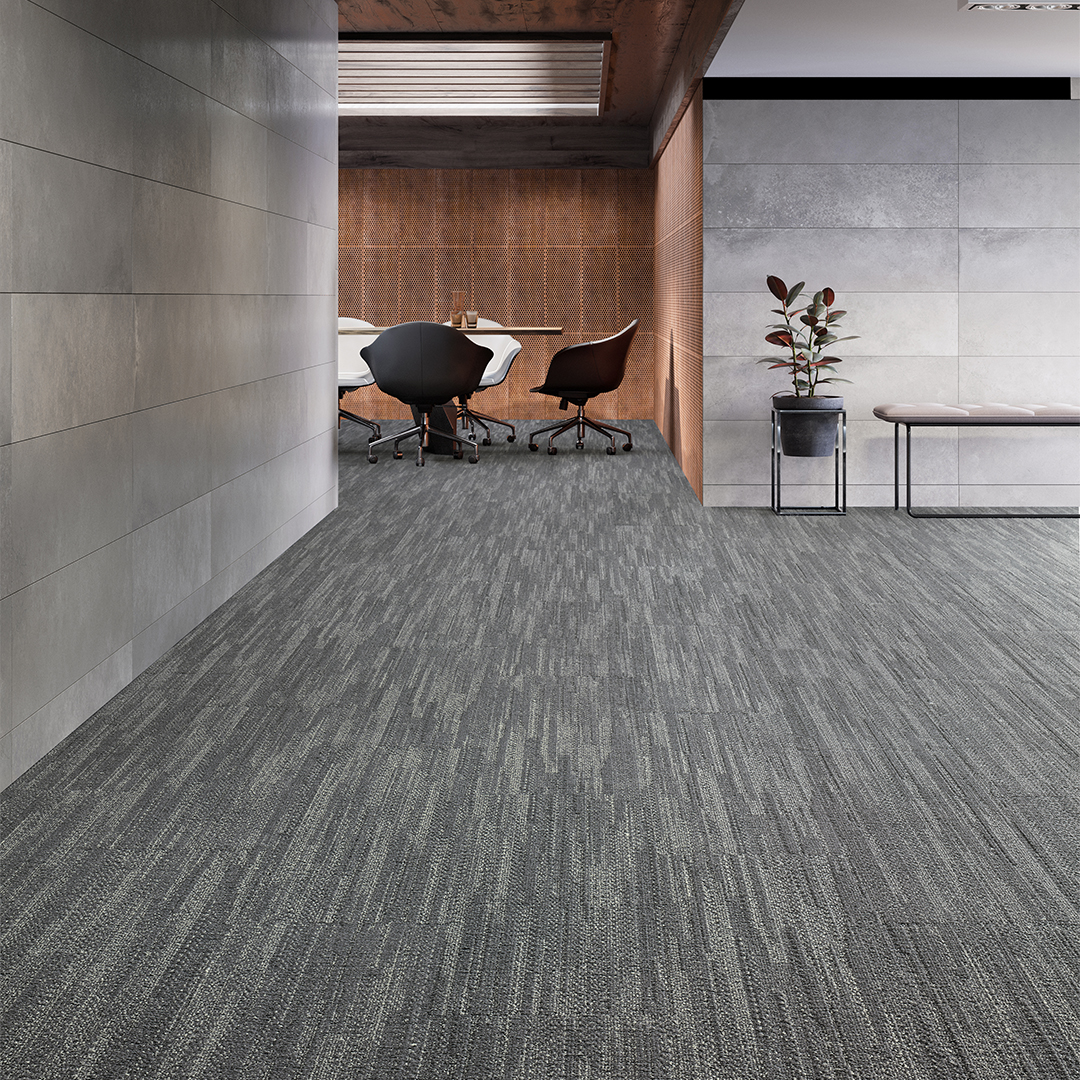 mannington commercial carpet Self Assembly Stockinette Knitt workplace design commercial carpet backings