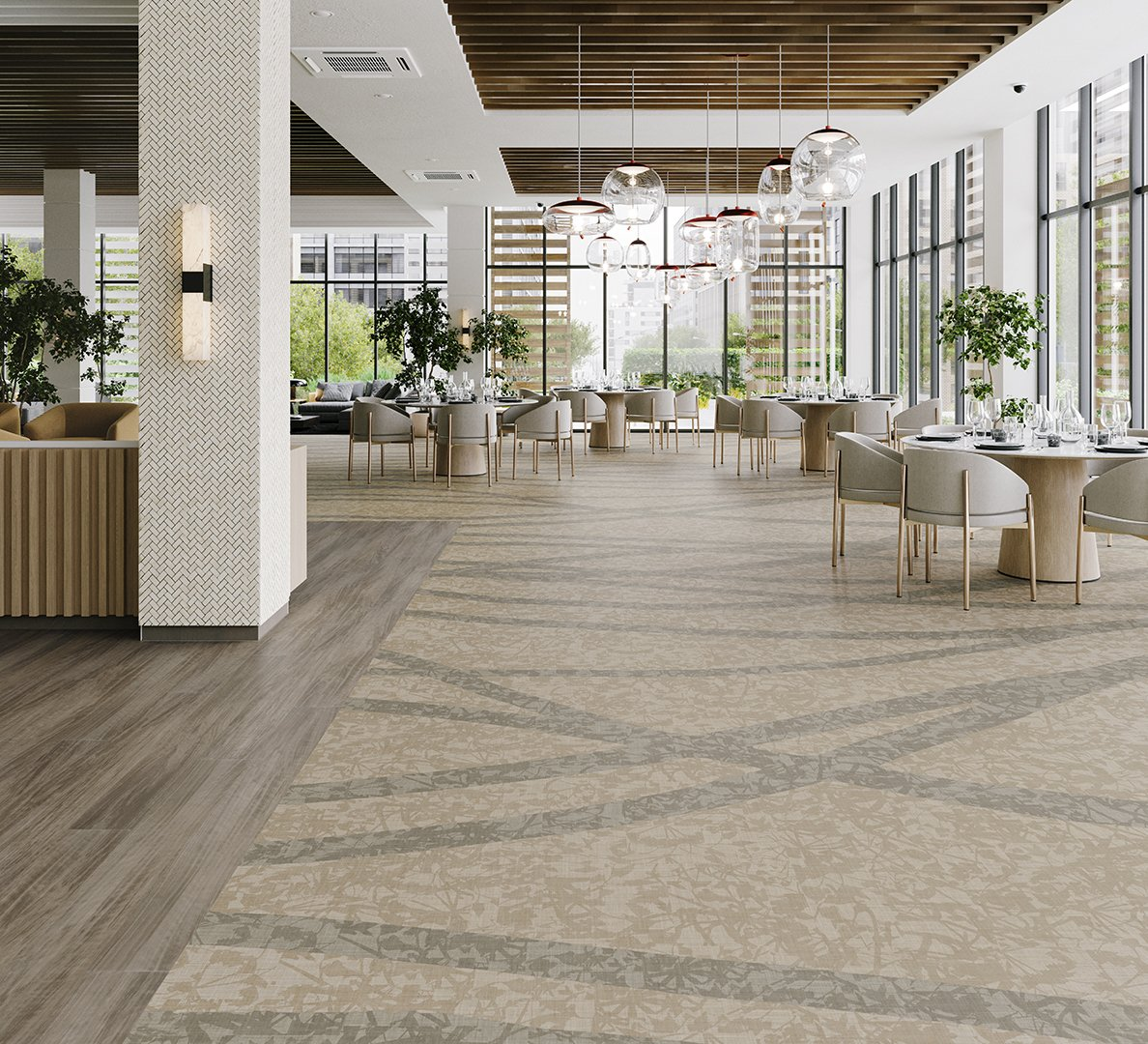 Mannington Commercial Resilient sheet vinyl flooring senior living MAN_Bloom_Wildflower_Harvest_Shade_ManningtonSelect_ VintageWalnut_Hackshaw
