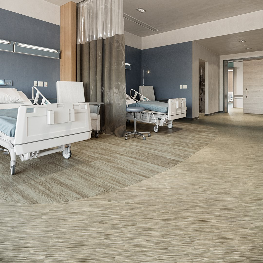 Paradigm_II Mannington Healthcare Design Sheet Vinyl Commercial Hospital Flooring  Chandler Oak