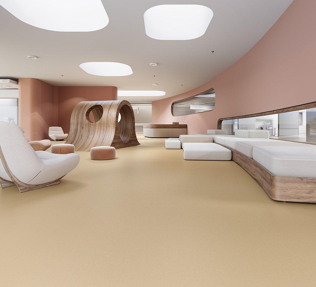 Legato_B413_Lobby_Pediatric liquid floor sustainable flooring option