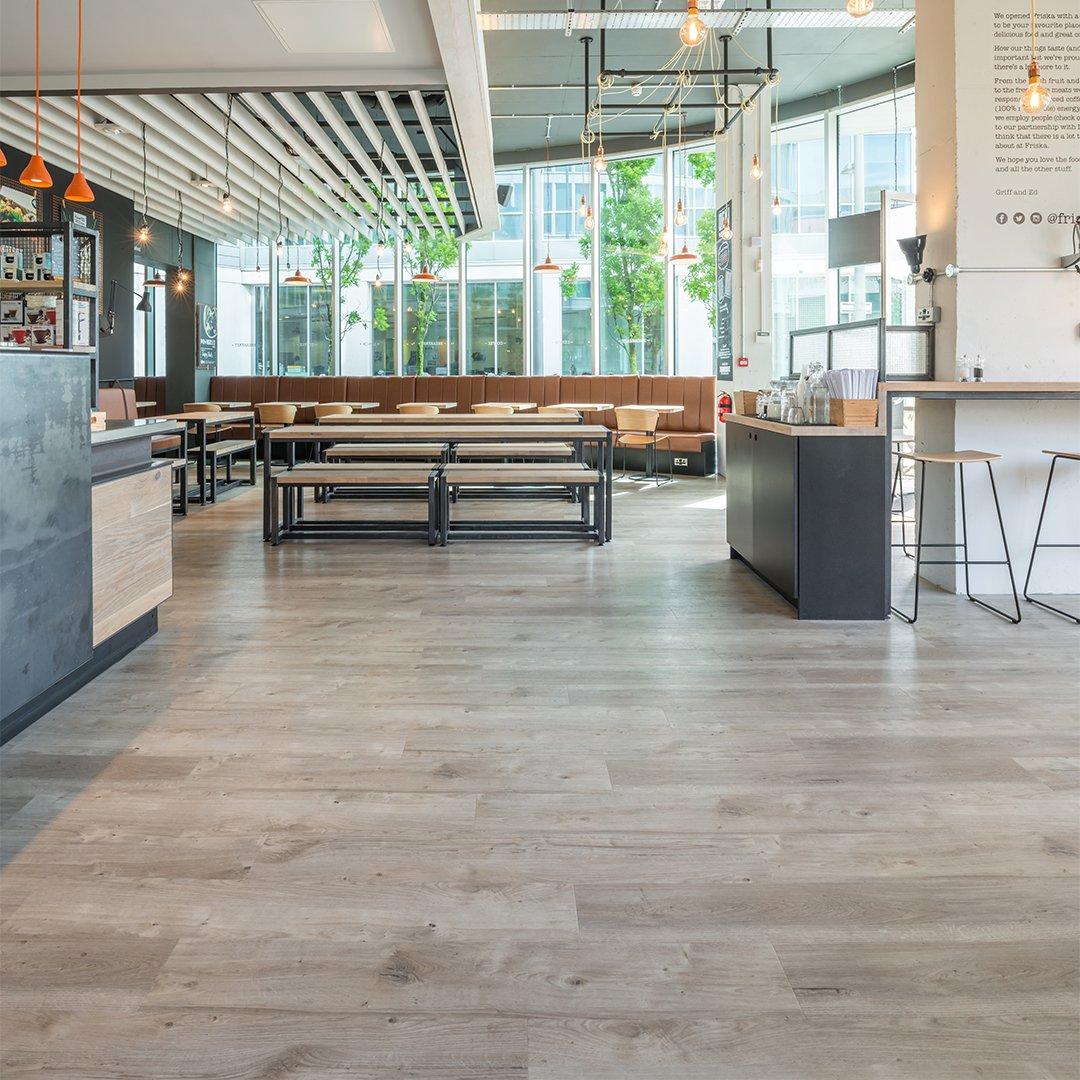 Spacia Xpress Weathered Oak Wood Floor in a retail setting room scene